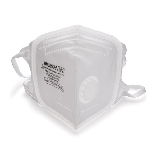 View a Larger Image of SoftSeal N95 V-Fold+ Valved Respirator (L) 3pk