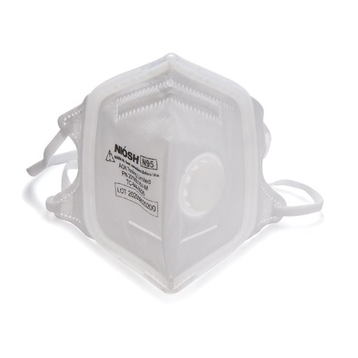 View a Larger Image of SoftSeal N95 V-Fold+ Valved Respirator (M) 3pk