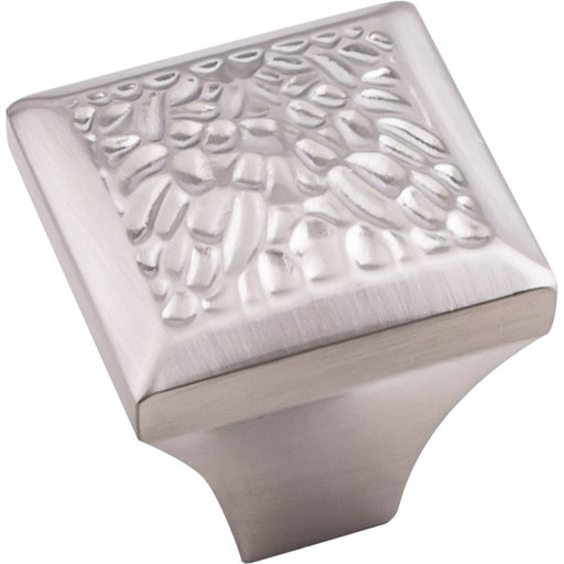"View a Larger Image of Solana Square Knob, 1-1/4"" O.L., Satin Nickel"