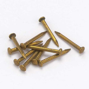"Solid Brass Escutcheon Pins 1/2"" x 18 Gauge 2 oz"