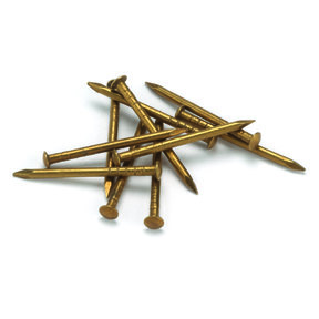 "Solid Brass Escutcheon Pins 1"" x 16 Gauge, 2 oz."
