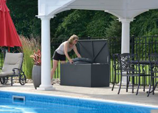 View a Larger Image of Spacemaker Deck Box, Basket Weave, Anthracite