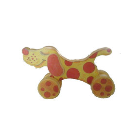 Spotted Dog with Pull Toy  Woodworking Pattern and Picture