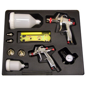 SP-33500 LVLP Gravity Feed Spray Gun Kit