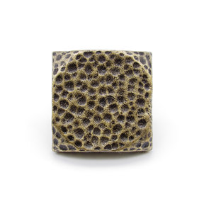 "Square 1-1/2"" Hammered Clavo Decorative Nail, 4-Pack, Brass Oxide"