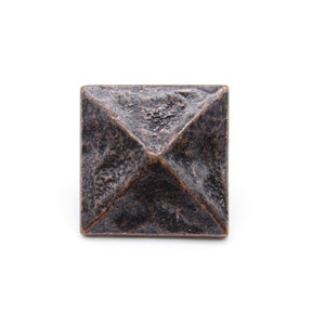 "Square 1-3/8"" Pyramid Clavo Decorative Nail, 4-Pack, Oil Rubbed Bronze"