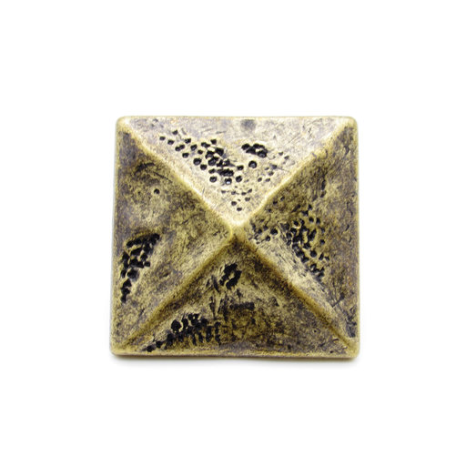 "View a Larger Image of Square 1-3/8"" Pyramid Clavo Decorative Nail, 8-Pack, Brass Oxide"