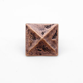 "Square 1-3/8"" Pyramid Clavo, 8-Pack, Copper Oxide"