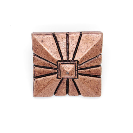 """View a Larger Image of Square 1-7/8"""" Clavo, 4-Pack, Copper Oxide"""