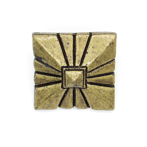 """View a Larger Image of Square 1-7/8"""" Clavo, 8-Pack, Brass Oxide"""