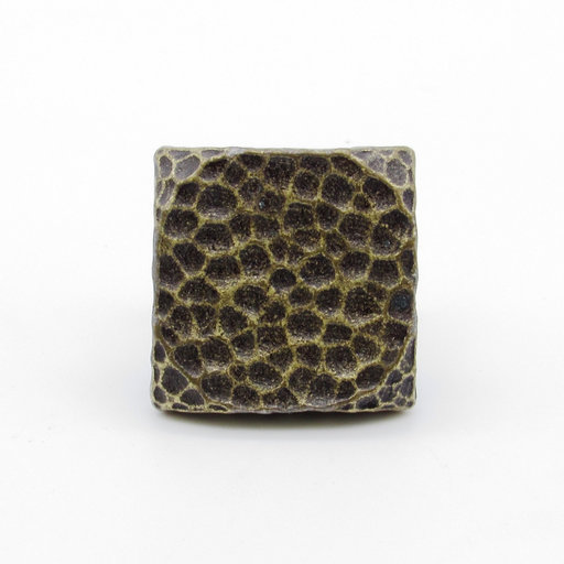 """View a Larger Image of Square 1"""" Hammered Clavo, 4-Pack, Brass Oxide"""
