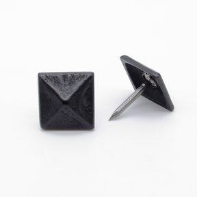 "Square 3/4"" Pyramid Clavo Decorative Nail, 4-Pack, Black Oxide"