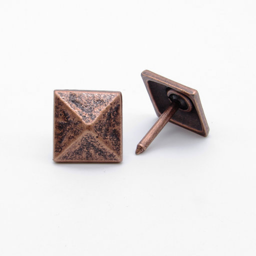 """View a Larger Image of Square 3/4"""" Pyramid Clavo, 8-Pack, Copper Oxide"""