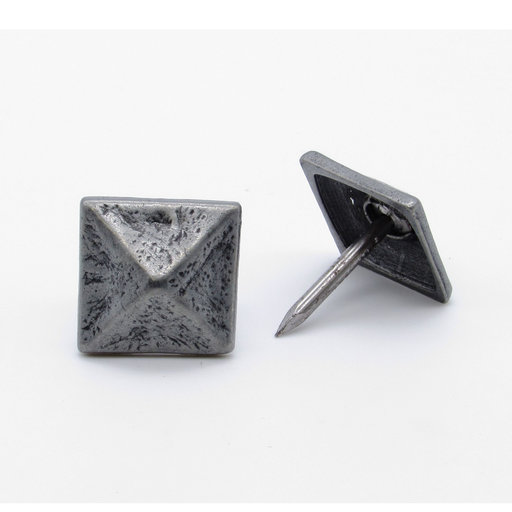 """View a Larger Image of Square 3/4"""" Pyramid Clavo, 8-Pack, Pewter Oxide"""