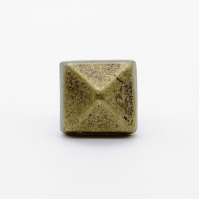 "Square 5/8"" Clavo Decorative Nail, 4-Pack, Brass Oxide"