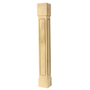 "Square post SQP-BGR-5, 40.5""H - Red Oak"