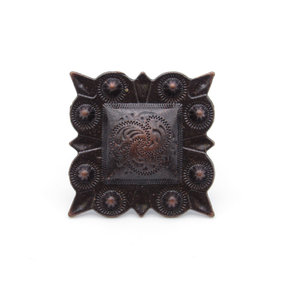 Square Studded Berry Clavo Decorative Nail, 4-Pack, Oil Rubbed Bronze