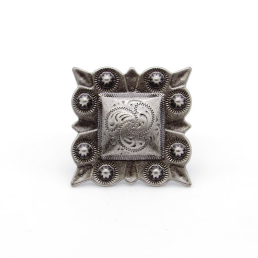 View a Larger Image of Square Studded Berry Clavo, 8-Pack, Nickel Oxide
