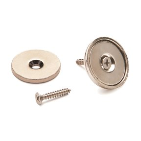 "Stainless Steel Magnetic Latch 1"" Dia 40 lbs Holding Strength"