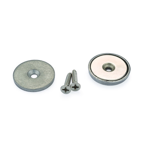 """View a Larger Image of Stainless Steel Magnetic Latch 3/4"""" Dia 20 lbs Holding Strength"""