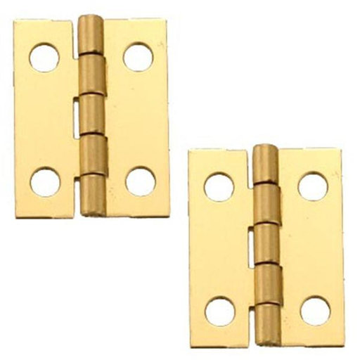 """View a Larger Image of Miniature Medium Solid Brass Hinge 3/4"""" L x 1"""" Open w/screws 2 Pair"""
