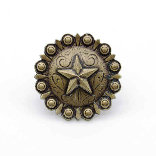 View a Larger Image of Star Clavo, 4-Pack, Brass Oxide
