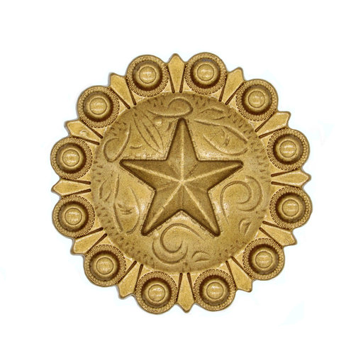 View a Larger Image of Star Conch Knob, Lux Gold