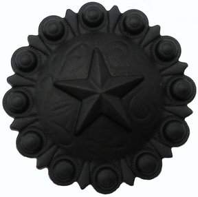 Star Conch Knob, Matte Black