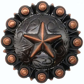 Star Conch Knob, Satin Copper Oxide