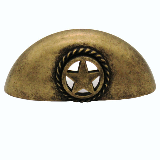 View a Larger Image of Star Cup Pull, Brass Oxide