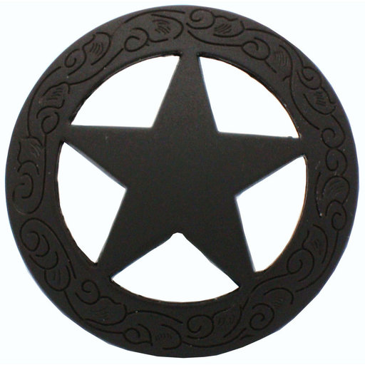 View a Larger Image of Star Knob with Engraved Edge, Oil Rubbed Bronze