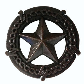 Star with Barbed Wire Knob, Oil Rubbed Bronze