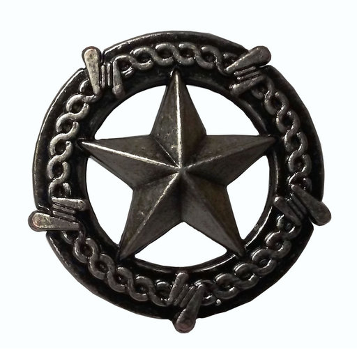 View a Larger Image of Star with Barbed Wire Knob, Pewter Oxide