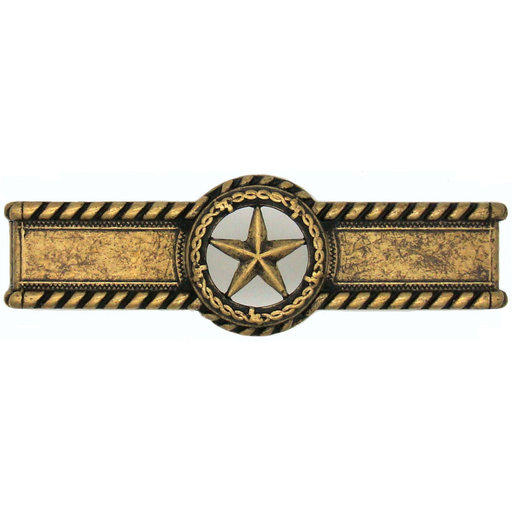 View a Larger Image of Star with Barbed Wire Pull, Brass Oxide