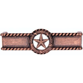 Star with Barbed Wire Pull, Copper Oxide