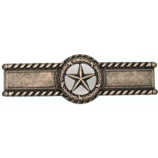 View a Larger Image of Star with Barbed Wire Pull, Nickel Oxide