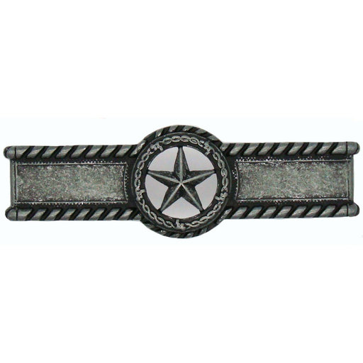 View a Larger Image of Star with Barbed Wire Pull, Pewter Oxide