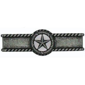 Star with Barbed Wire Pull, Pewter Oxide