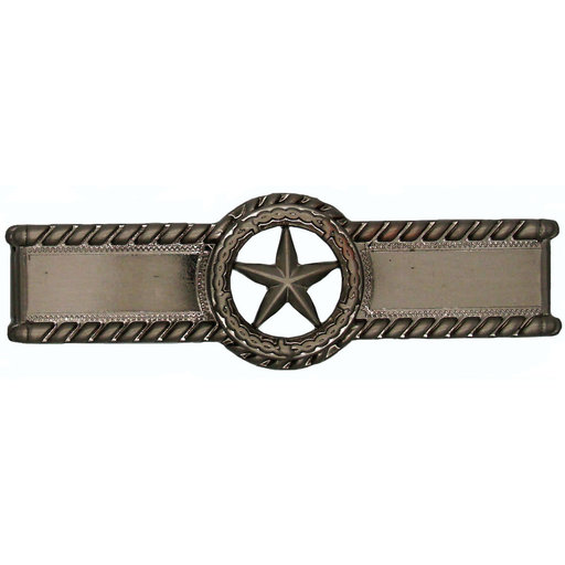 View a Larger Image of Star with Barbed Wire Pull, Satin Nickel