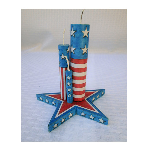 View a Larger Image of Star with Pretend Firecrackers  Woodworking Pattern and Picture