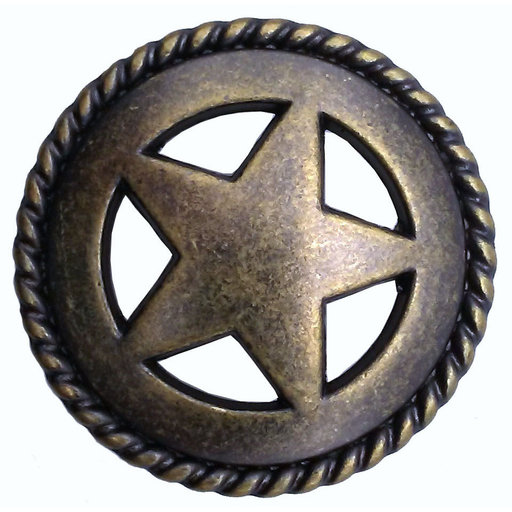 View a Larger Image of Star with Roped Edge, Brass Oxide