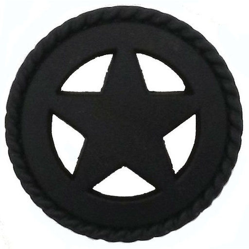 View a Larger Image of Star with Roped Edge, Matte Black
