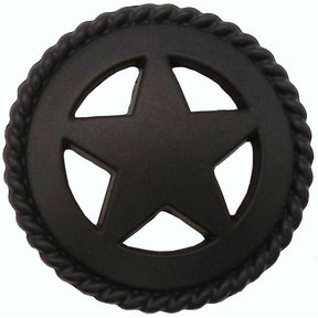 Star with Roped Edge, Oil Rubbed Bronze