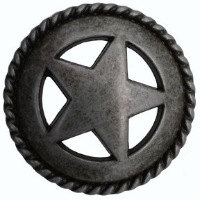 Star with Roped Edge, Pewter Oxide
