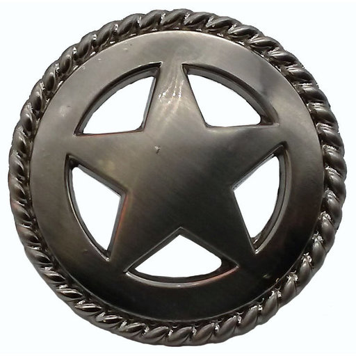 View a Larger Image of Star with Roped Edge, Satin Nickel