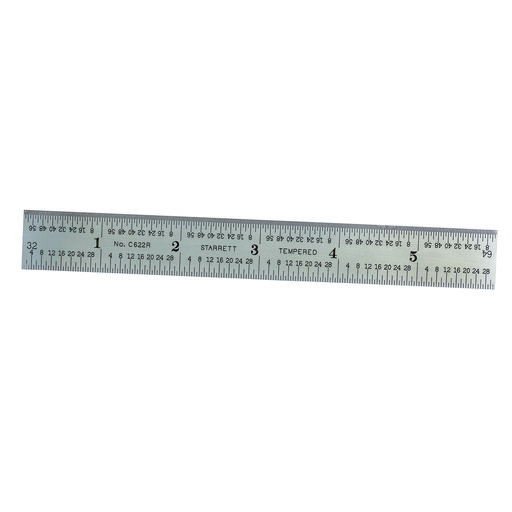 "View a Larger Image of 6"" Steel Rule with Decimal Equivalents Model C622R-6"