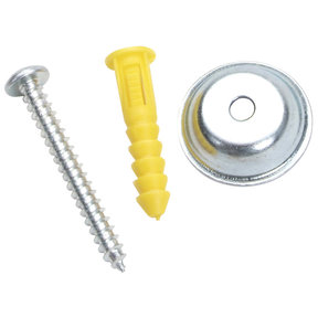 "Steel/Plastic Pegboard Mounting & Spacer Kit for DuraBoard or 1/8"" & 1/4""Pegboard, 16 Sets"