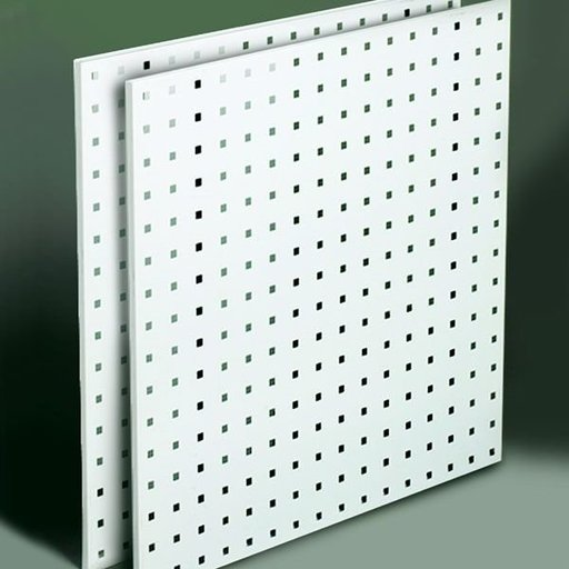 "View a Larger Image of Steel Square Hole Peg Board (2), White, 24""x24"""