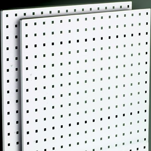 "View a Larger Image of Steel Square Hole Peg Board (2), White, 42-1/2""x24"""