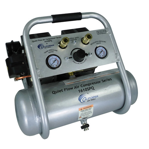View a Larger Image of Steel Tank Air Compressor, 1610SQ, Quiet Flow, 1Hp, 1.6 gallon